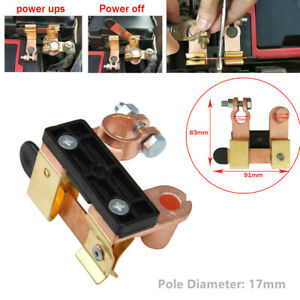 Battery Disconnect Knife Blade Switch Control Top Post Brass Shut off 12-24V 1PC