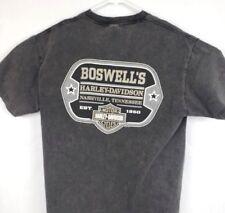 Harley Davidson Mens Large Boswells Nashville TN Grey Dog Tag Motorcycle T Shirt