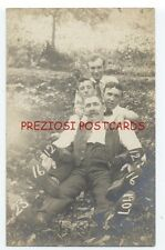 RPPC - 4 GOOFY Affectionate MEN DISPLAY 1907 DATE & 23 SKIDOO on SOLES OF SHOES!