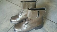 Joan Helpern Signature VINTAGE AIRBORNE espresso military style ankle boots 5m