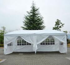 Homcom-Gazebo pieghevole da giardino Tenda da esterno con 6 pannelli laterali