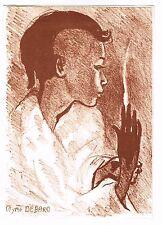 L'ARTISTE PEINTRE MYRTO DEBARD DE GOREE EN 1974
