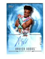 WWE Xavier Woods 2017 Topps Undisputed Blue On Card Autograph SN 71 of 199