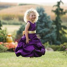 Purple Dress Easter Toddler Junior Pageant Flower Girl Dress sizes 2-16 years
