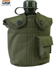 Kombat US Style Water bottle & Pouch ALICE Clips Olive Green Cadets Airsoft Army