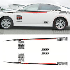 Car Whole Body Bumper BK Material Sticker Eye-catching Red & White Vinyl Decal