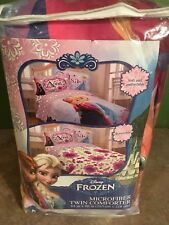 Disney FROZEN Celebrate Love Reversible Super Soft Twin Comforter NEW