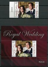 NIUE 2011 Royal Wedding Kgl. Hochzeit Prinz William & Kate Royalty ** MNH