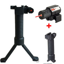 Tactical RIS Fore Grip Bipod Pod Picattinny Weaver Rail Foregrip&red laser sight