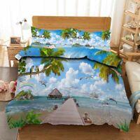 Rainbow Island 3D Printing Duvet Quilt Doona Covers Pillow Case Bedding Sets