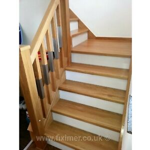 Oak Staircase Steps Cladding System 13 Straight Treads with Nosing 40mm