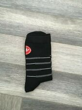 New Black Rosso Corsa Cycling Socks Size 7-13