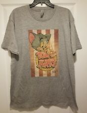 New Tom and Jerry Vintage Cartoon Adult Large Tee Shirt
