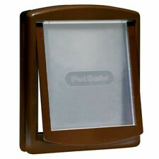 PetSafe 2-Way Manual Pet Dog Door Gate Cat Flap Locking 775 Large Brown 5024