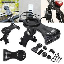 Carbon Fiber Bike Computer Front Stem Mount Holder For Garmin Edge Cateye Bryton