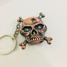 Metal Skull  Cigarette Lighter Bronze Uk Seller