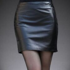 Unbranded Faux Leather Plus Size Skirts for Women