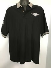 Nice Mens Black & Gray Harley Davidson Polo Shirt, Size L 100% Cotton 1997