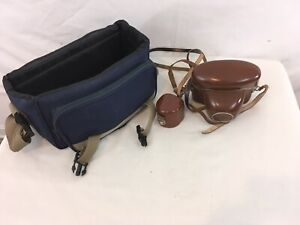 Vtg Agfaflex German Made 35mm Film Camera with Extra Lens Leather Case