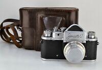 "RUSSIAN USSR ""ZENIT-C"" SLR camera + INDUSTAR-50 lens, f3.5/50mm (1)"