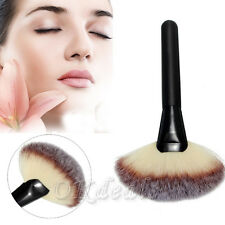 Large Fan Goat Hair Blush Face Powder Foundation Blending Cosmetic Makeup Brush