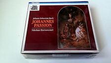 """CDBOX """"BACH JOHANNES PASSION"""" 2CD+BOOK LIBRO NIKOLAUS HARNONCOURT 8.35018 ZA"""