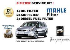 PER FORD GALAXY 2.0 TDCi 5/2006-2010 kit di manutenzione OLIO ARIA diesel