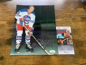 Bobby Hull Winnipeg Jets Autographed 8x10 Photo C JSA COA #HH75235