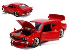 Diecast Model Car 1 24 1974 MAZDA Rx-3 Red With Gold Stripe JDM Tuners 30718
