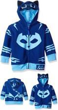 PJ Masks Hoodie Toddler Boys Gekko & Catboy Blue Warm Autumn Jacket Mesh Mask