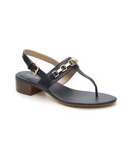 Women MK Michael Kors Charlton Buckle Up Sandals Leather Admiral