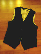 S Holmes steampunk suit vest Black pinstripe front lined  M 36 C Teddy Smith