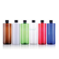 500ml Refillable Empty Plastic Bottles Tight Screw cap for Lotion Soap Shampoo