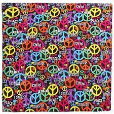 Signos de paz de Varios Colores Cuello Bufanda De Cabeza Bandana Bufanda #10
