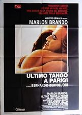 manifesto movie poster 2F Ultimo tango a Parigi Bernardo Bertolucci  brando