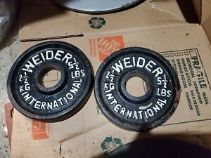 Weider International Two (2) 2.5 Kg  5.5 Lb Lbs Olympic Plates Weights 11lbs