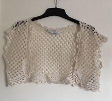 New Look Ladies Crochet Cropped Cardigan Size Medium