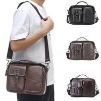 BULLCAPTAIN Men Genuine Leather Shoulder Bag Briefcase Business Handbag Tote