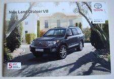 Toyota. Land Cruiser Toyota Land Cruiser V8. JUILLET 2012 sales brochure