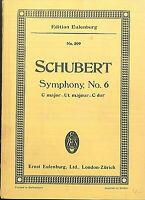 Schubert : Symphonie No. 6  C dur ~ Taschenpartitur