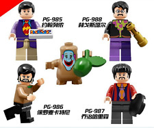 Minifigures Toy the Beatles Building Blocks 4 figures model fit to Lego gift