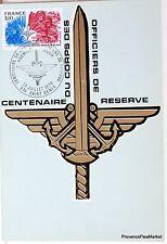 Yt 1890 OFFICIERS DE RESERVE    FRANCE CARTE MAXIMUM 1° JOUR FCP