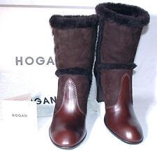 ♛ Hogan edle Hammel Leder High Heels Stiefel Gr.38 + NEU + ♛