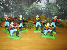 53FP LOT OF 6 BRITAINS DEETAIL U.S. 7th CAVALRY FIGURES