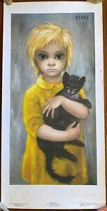 "KEANE ""THE STRAY"" Big Eyes Print Vintage 1960s Litho Japan Tomorrow's Masters"