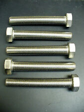 M16 x 100 HEX HEAD CAP SCREW BOLT, A2 STAINLESS STEEL DIN 933, *FIVE PIECES*