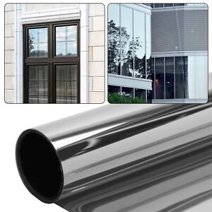 One Way Mirror Film Window Glass Sticker Tint UV Solar Insulate Reflect  Privacy