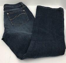 DKNY Donna Karan Ludlow Jeans Distressed Dark Wash Jeans Women's 10