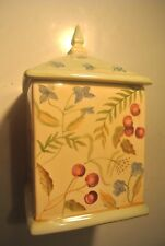 Capriware Flowers Berries Cherries Violets Square Sugar Flour Canister @ cLOSeT
