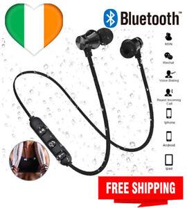 Wireless Bluetooth Earphones Headset Sweatproof Android Phone built in Mic